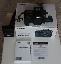 Canon EOS 90D 32.5MP 4K Digital SLR Camera Body MINT <1600 Shutter Count