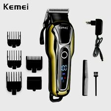 Professional Men Electric LCD Hair Clipper Trimmer Haircut Machine Kemei 100%