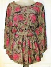 NEW TOMMY & KATE PINK & BEIGE BEAUTIFUL TOP SIZE S 10/12 #  79