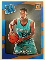 Malik Monk, Hornets, 2017 Donruss Rated Rookie #190, ROOKIE CARD RC, + LOT