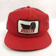 NEW LOOMIX Farmers Trucker Hat Patch Mesh Snap Back K Products Cows Feed Grain
