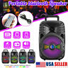 """1000W  8"""" Portable FM Bluetooth Speaker Subwoofer Heavy Bass Sound System Party"""