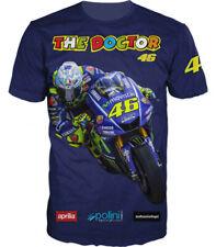 The Doctor Valentino Rossi Racing Guru VR 46 Biker Motorcycles 3D T Shirt Tee