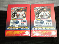 (2) Cases (8) sets 1990 PRO SET World League Football sets (NEW IN CASES)