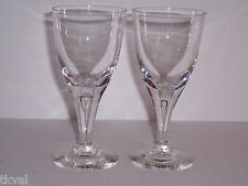 SKRUF Stockholm  (2)  CRYSTAL CLEAR CORDIALS / WINE GLASSES