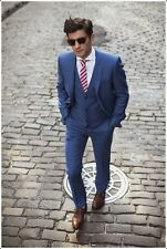 Custom Made Mens Slim Fit Wedding Suits Groom Tuxedos Suits 3 Piece Suits Blazer