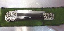 "Custom Mel Pardue Knife Engraved Bolsters Nickel Silver 3-1/2"" Coffin Handle"