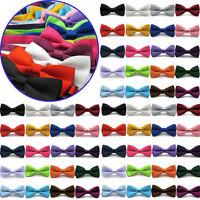 HOT Classic Solid Men's Adjustable Pre Tied Formal Wedding Bow Tie Tuxedo Bowtie