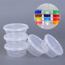 12pcs plastica trasparente Melma Scatola portaoggetti rotondo contenitore Tazze