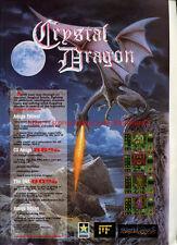 "Crystal Dragon ""Black Legend"" 1994 Magazine Advert #5753"