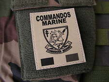 SNAKE PATCH - COMMANDOS MARINE - FRANCE FORCES SPECIALES - COS format TAN