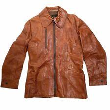 Ibex of England Mod 70's Hippie Leather Jacket Buffalo Hide Rare Small