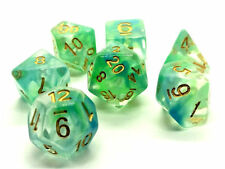 Dungeons and Dragons Dice Set: Green Vapor Dice Set - dnd Dice rpg d&d dice d20