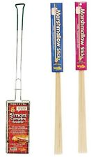 S'mores Campfire Roaster Maker Plus 12 Wooden Marshmallow Roasting Sticks