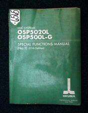 Okuma Special Functions Manual for CNC Systems: OSP5020L, OSP500L-G