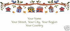 Custom Address Mailing Labels Personalized Birdhouse