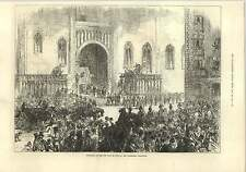 1875 New King Of Spain Alphonso At Cathedral Barcelona
