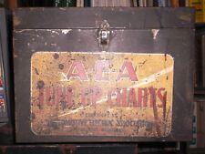 Vintage Rare AEA Tune Up Charts/Specs Metal Display Case/Box Service Repair Shop