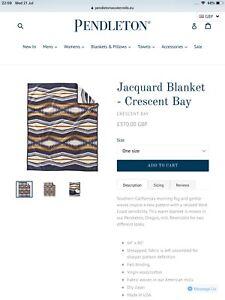 Pendleton Jacquard Blanket Crescent Bay Design £370 Made In USA