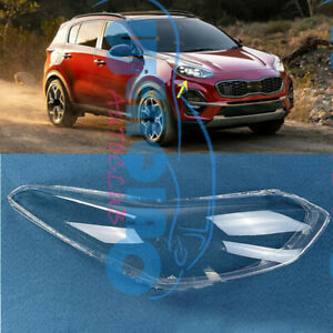 Right Side Headlight Clean Cover PC+Glue Fit for Kia Sportage 2017-2019