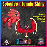 SOLGALEO + LUNALA Shiny 2-PACK w/ MASTER BALL | 6IV | Pokemon Sword Shield