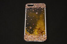 Beautiful Transparent iPhone 6PLUS Case w Gold Moving Glitters Inside (S583)