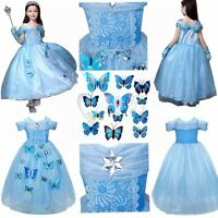 Hot.Sandy Princess Cinderella Cosplay Costume Kids Girls Party Fancy Dress·Gown