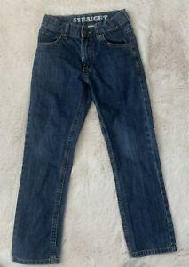 Gymboree Boys Size 7 Blue Jeans Denim Straight Leg Adjustable Waist Snap Closure