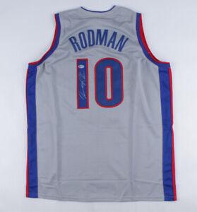 Dennis Rodman Signed Pistons Jersey (Beckett COA) Detroit 7xNBA Rebounding Champ