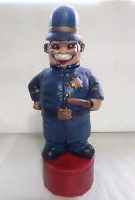Vintage Albertas Ceramic Decanter Policeman Cop Constable Figure #591 2 Piece
