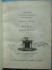 PIALE : VEDUTE ANTICHE E MODERNE DELLA CITA DI ROMA, 1790. 100 vues sur cuivre.
