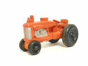 "Vintage GS Auburn Rubber Toys RED Hard Rubber Toy Tractor Original 5"" - SEE PICS"