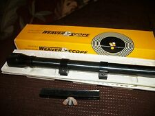 "Vintage Weaver D6 Military 6X Sighting Scope No Crosshairs - NOS 7/8"" Rings"