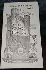 ANTIQUARIAN CASTLE SQUARE THEATRE PROGRAM 1917-1918 MARY PICKFORD BOSTON MA