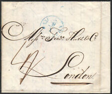 1838 ENTIRE FROM AMSTERDAM TO LONDON WITH FORWARD AND RECEIVING CANCELLATIONS