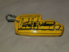 Vintage Nos Floating Key Chain Yellow Pontoon Shaped Float Boat Water