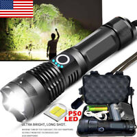 900000LM Super Bright  XHP50 LED USB Rechargeable Flashlight Zoom Torch B4