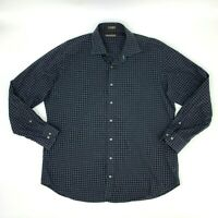 Peter Millar Long Sleeve Shirt Men's XL Gingham Check Plaid Collared Button Up