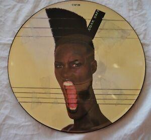 "Grace Jones Slave To The Rhythm Original 12"" Vinyl Record Rare Picture Disc"