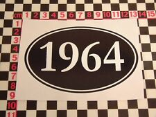 1964 Year Sticker - Morris Austin Standard MG Talbot Bentley Daimler Birthday