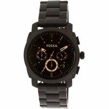 Fossil Men's Machine FS4682IE Black Stainless-Steel Quartz Dress Watch