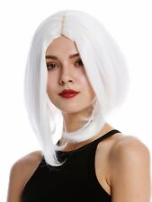 Ladies' Wig Cosplay short Shoulder Length Long Bob Middle Part Smooth White