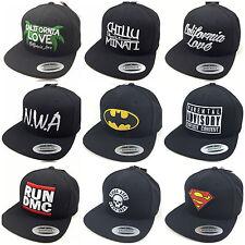 NEW NWA, RUN DMC, CHILLUMINATE CALIFORNIA Superman Batman Snapback Baseball Cap