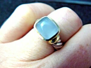 David Yurman Reteired  Chalcedony Noblesse Ring in Original Pouch!