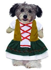 Oktoberfest Fraulein Dress Up Halloween Pet Costume Dress Dog Puppy S-L
