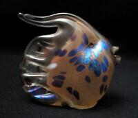 EXQUISITE IRIDESCENT AUSTRALIAN STUDIO ART GLASS FISH FIGURINE