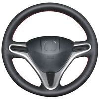 Brand New Black Artificial Leather Car Steering Wheel Cover for Honda Fit /City