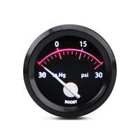 "2"" 52mm LED 0~30 PSI Turbo Boost Gauge Pressure Vacuum Smoked Face Universal Kit"