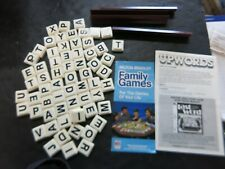 1984 Authentic Upwords Letter Tiles,Tile Holder & Directions Pieces Game (I)