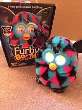 FURBY BOOM 2013 Triangles Blue, Pink  Black Interactive Toy Working in Orig. Box